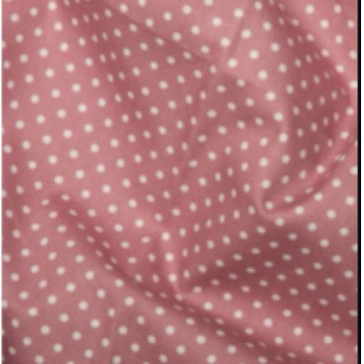 Rose pink spot cotton poplin