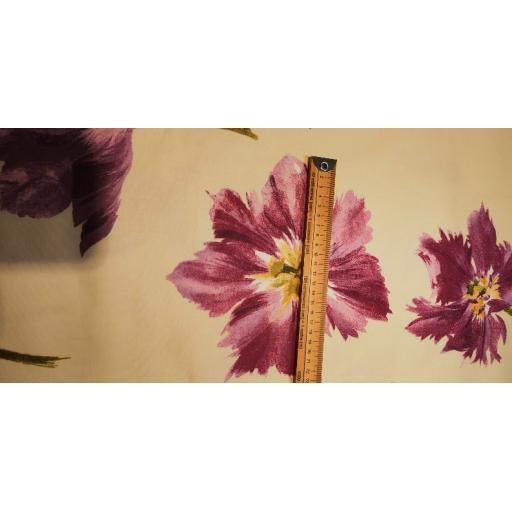 Tuvalu Large purple and cream floral canvas