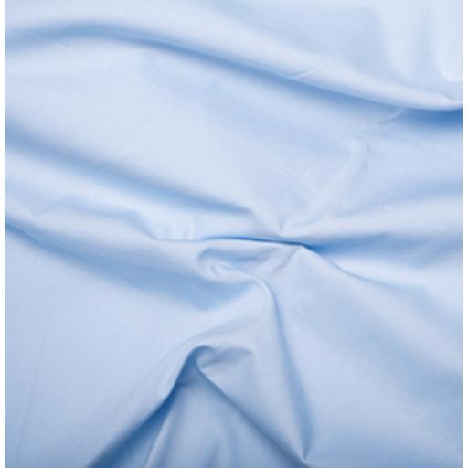 Light candy blue cotton poplin