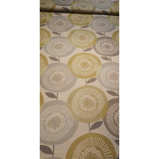 Circular floral, curtain fabrics
