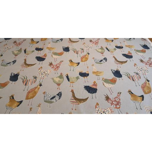Chickens... Harriet - colonial - Prestigious Fabrics Cotton canvas