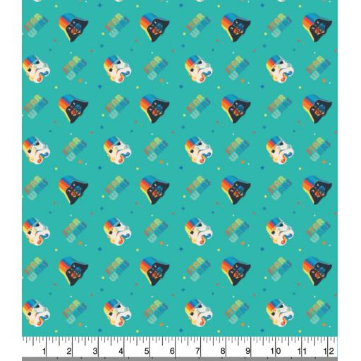 Star wars- rainbow helmets cotton fabric