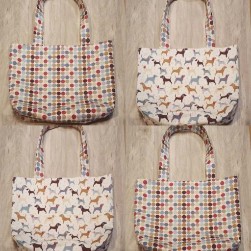 Dog + spot- Shopping bag-long handles-medium