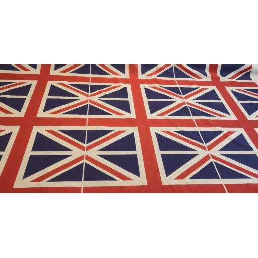 Large union flag/jack British flag 148cm wide cotton poplin