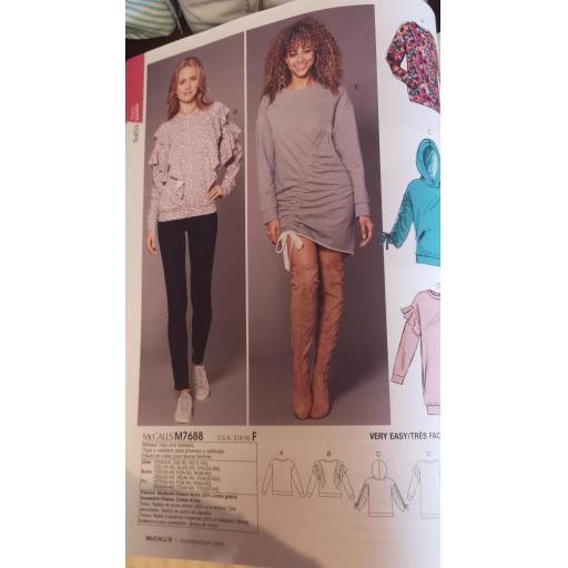 McCalls pattern -ladies Jersey top patterns part 1