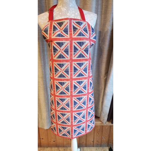 Union flag, British flag Adult apron - hand made full length apron with adjustable neck strap