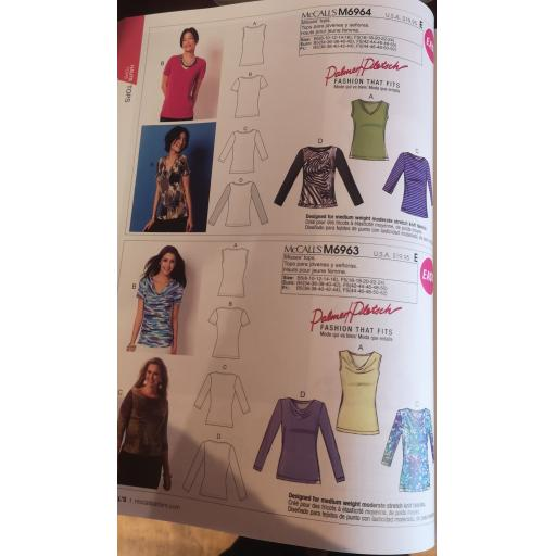 McCalls pattern -ladies Jersey top patterns part 2