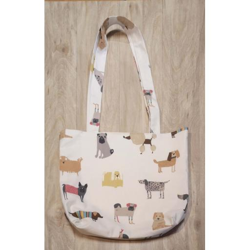 Shopping bag-long handles-medium - Woof woof