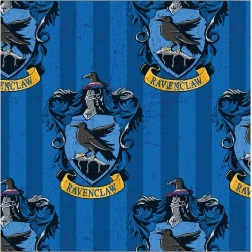 Harry Potter cotton fabric - Ravenclaw