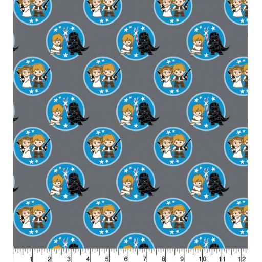 Star wars- young Leia/Han Solo cotton fabric