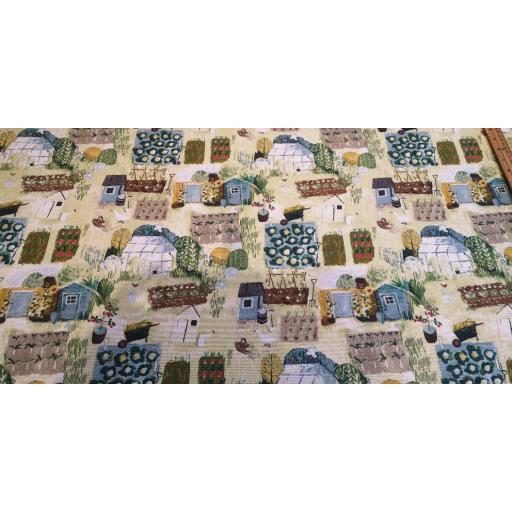 Allotments - spring , Cotton canvas