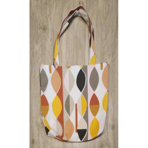 Shopping bag-long handles-medium Mabel orange