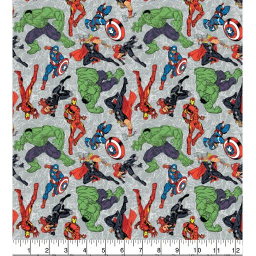 Avengers new characters by Marvel cotton fabric
