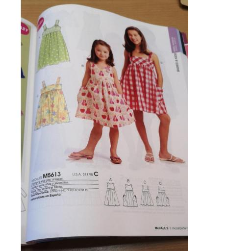 McCalls pattern -girls dress patterns 1