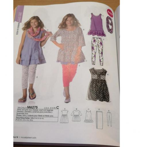McCalls pattern - teen girls patterns 1