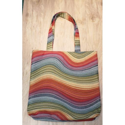 Rainbow swirl Shopping bag-short handles-large