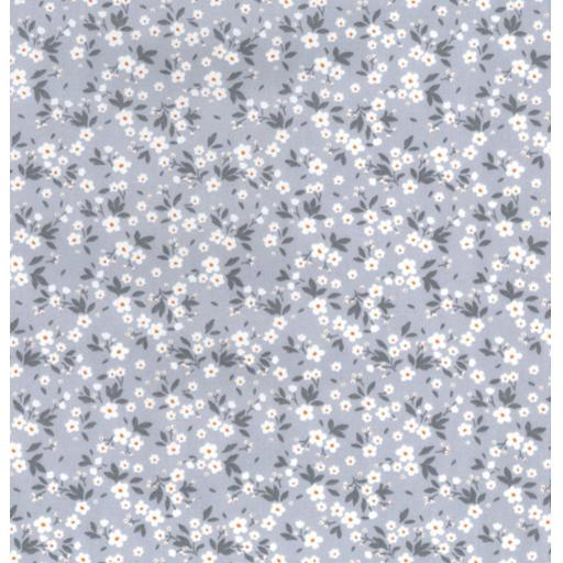 Silver grey Ditsy cotton poplin