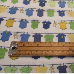 Baby boy themed organic cotton green, blue, yellow vests.jpg