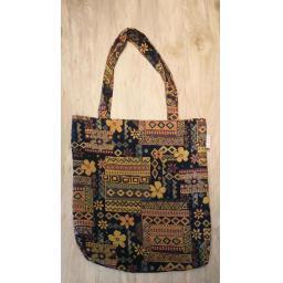 Blue floral tapestry short handled large shopper_1.jpg