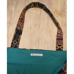 Blue floral tapestry short handled large shopper_2.jpg