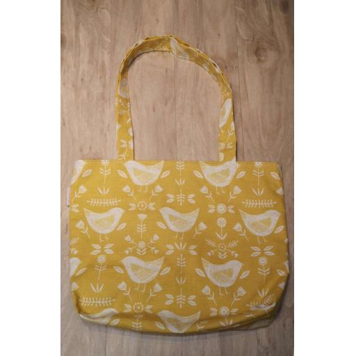 Yellow bird - Shopping bag-long handles-medium