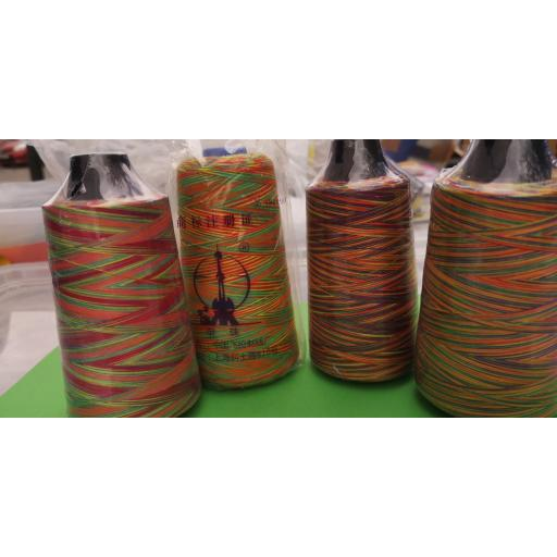 Rainbow overlocker thread - cone. 120's 3000 yds