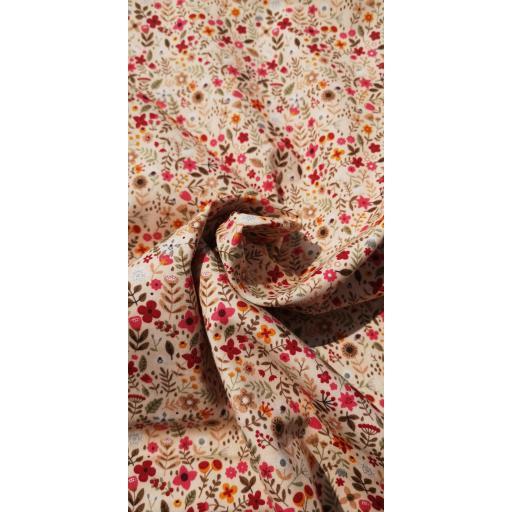 Summer florals cotton poplin