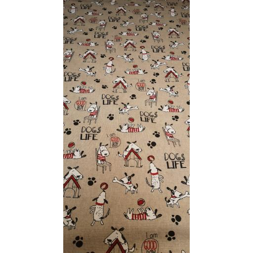 It's a dog's life linen look canvas