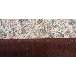 Terracotta UK wool tweed with sage floral lawn.jpg