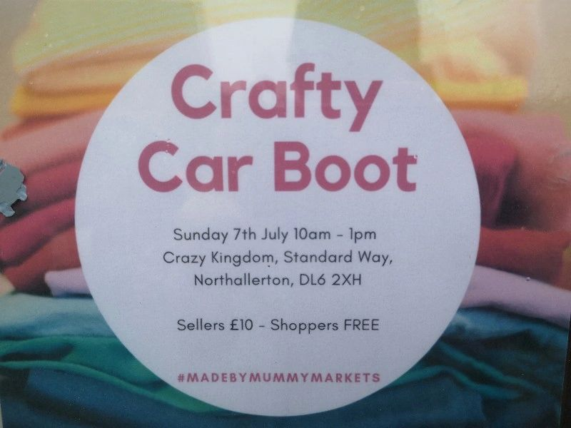 Crafty car boot sale Sunday 7th July