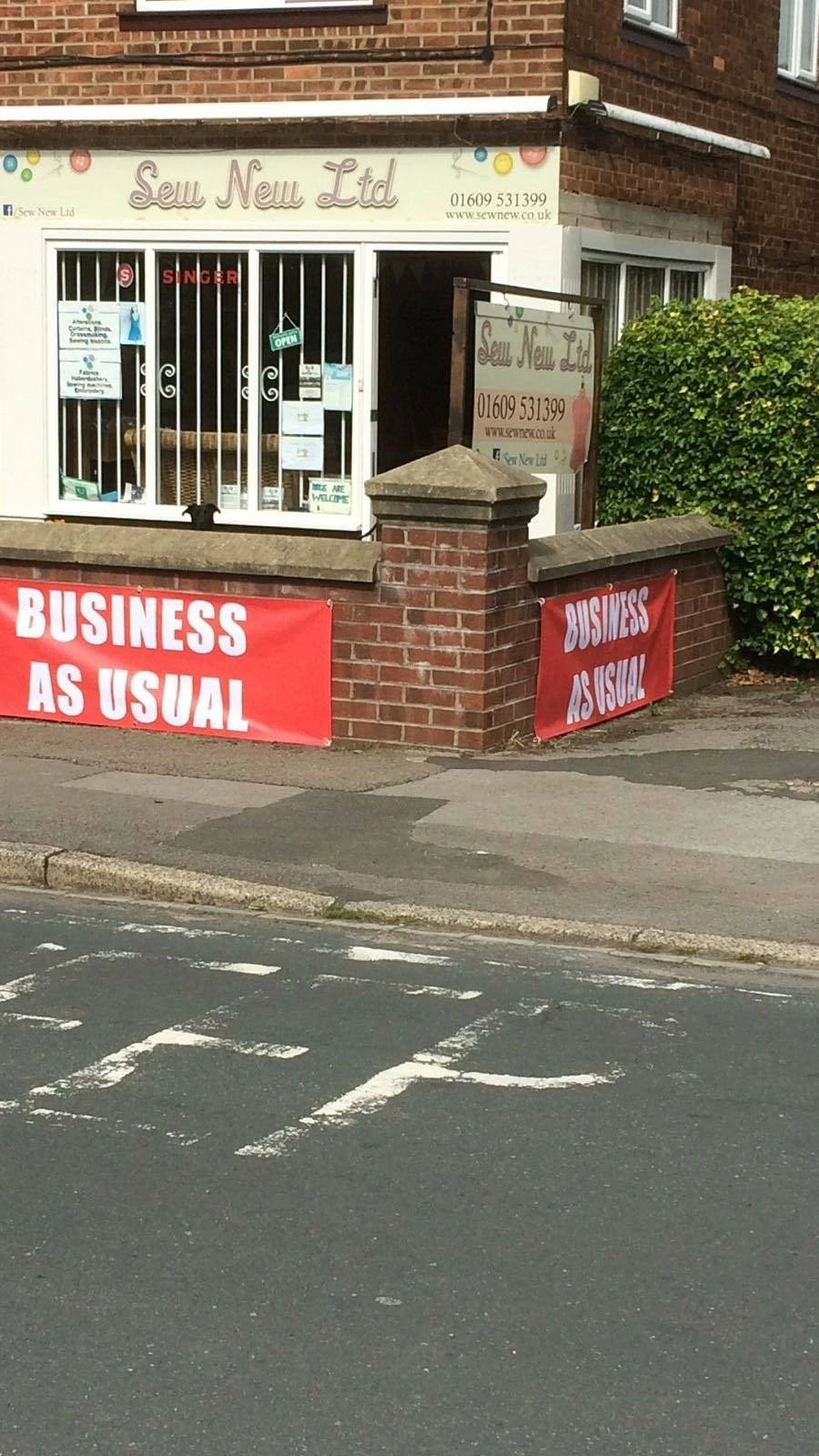 Sew New Ltd- Business as usual!